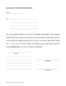 printable eviction notice florida  fill online printable fillable florida 30 day notice to vacate template doc