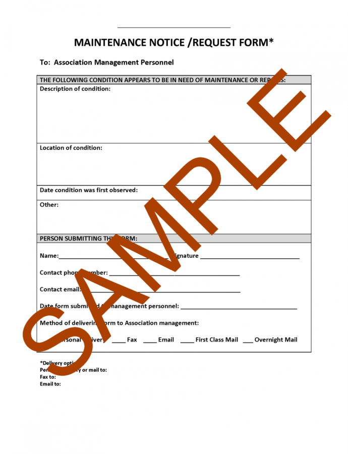 Printable Hoa Letter Samples Forms And Templates  Hoa Member Services Hoa Violation Notice Template Word