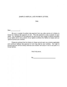 printable late rent notice  templates hunter late rent notice letter template