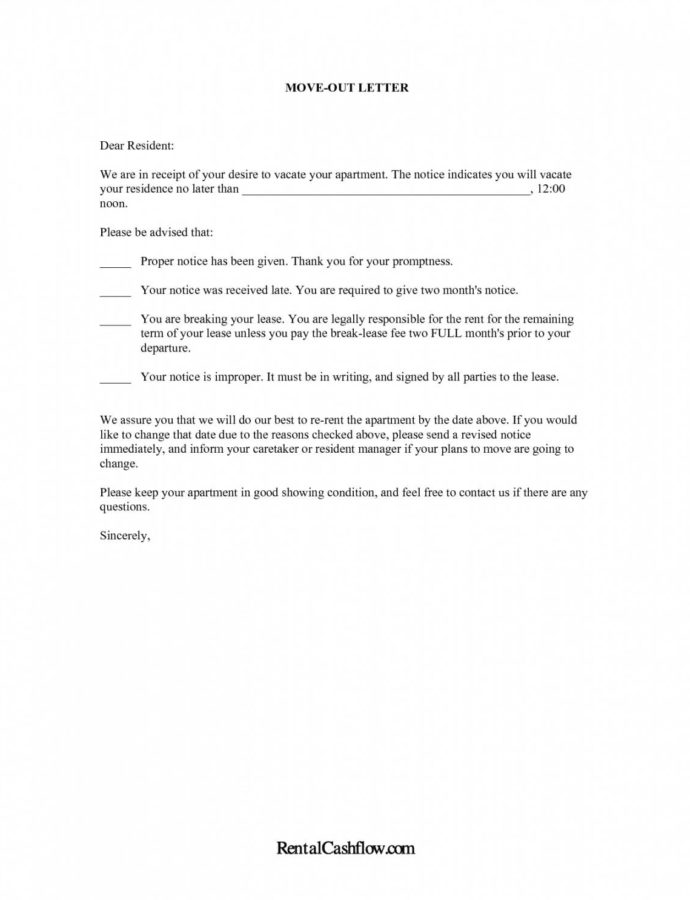 Printable Moving House Notification Letter Template  Kimoni Notice To Move Out Template Word
