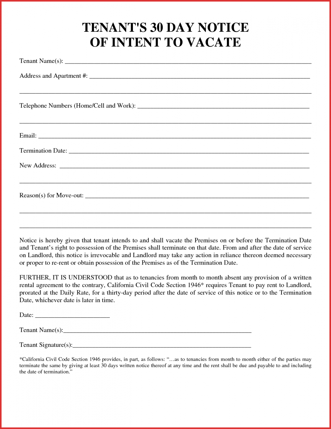 001 template ideas california thirty day notice to quit 30 day notice to quit template doc