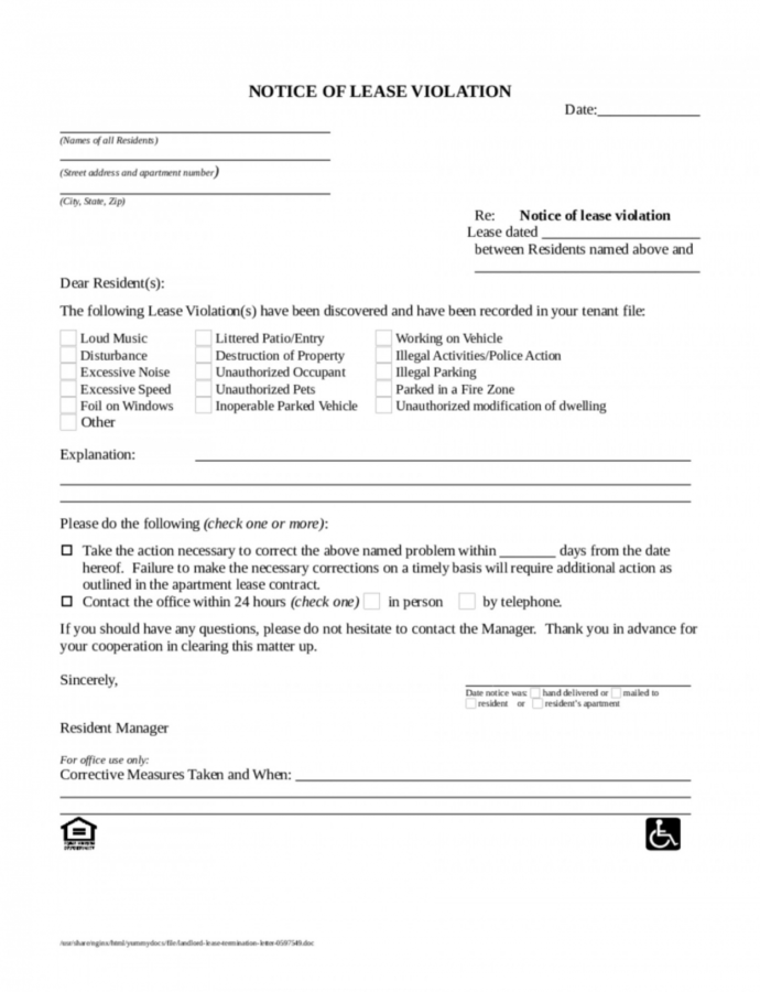 006 Template Ideas Lease Termination Letter Awful Commercial Notice Of Lease Violation Template Example