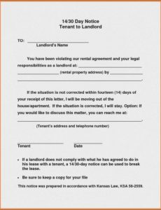 011 template ideas landlord notice to vacate letter sample giving 30 day notice to landlord template