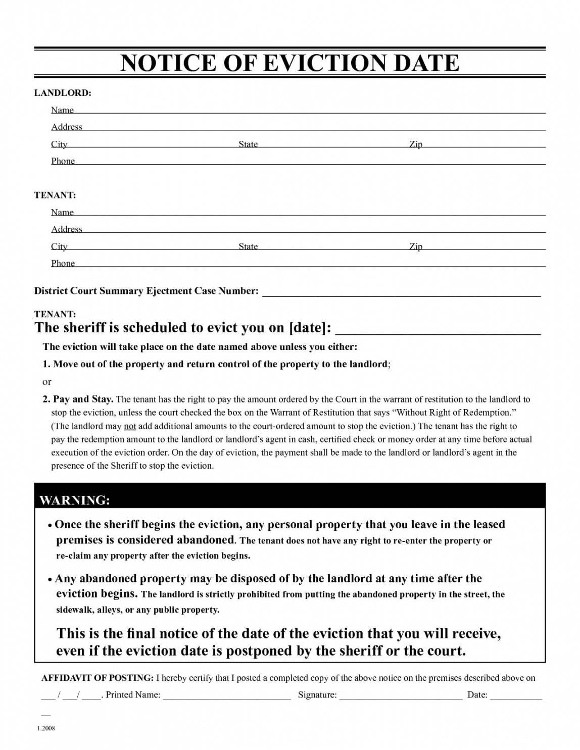 30 day eviction notice form missouri  mbm legal missouri eviction notice template pdf