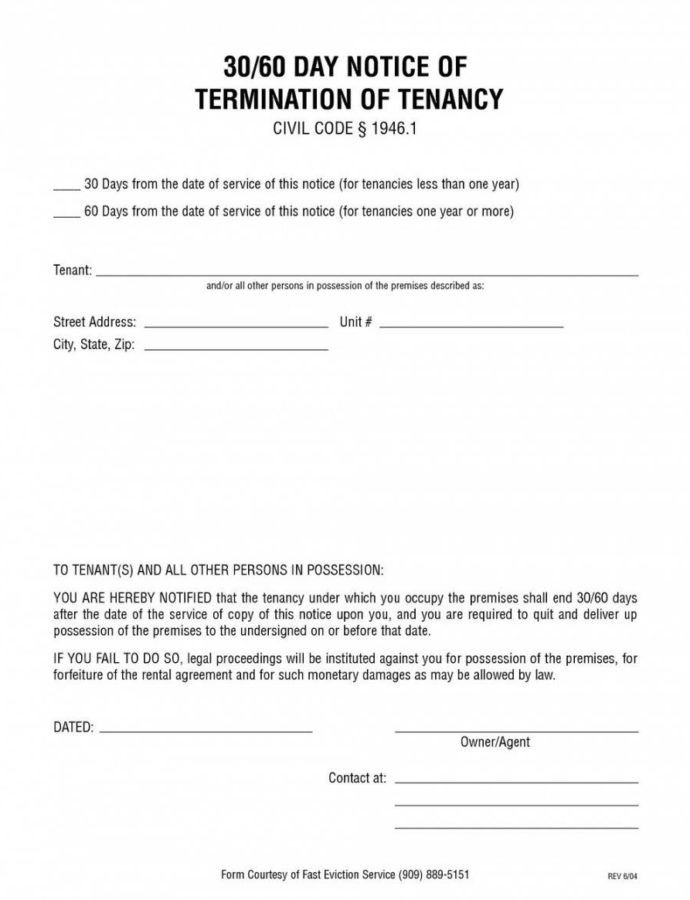 30 Day Eviction Notice Form Ohio  Mbm Legal Ohio Eviction Notice Template Word