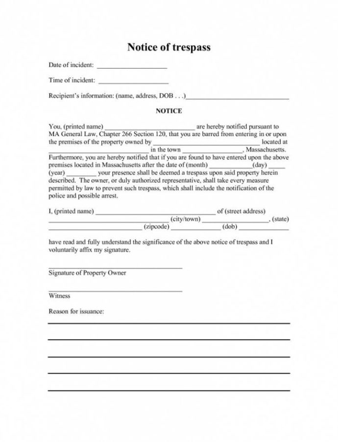 Costume Cease And Desist Trespassing Letter Template Samples No Trespassing Notice Template PDF