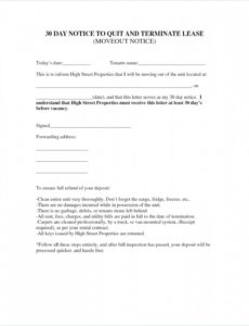 costume letter to vacate template  wecolorco template notice to vacate pdf