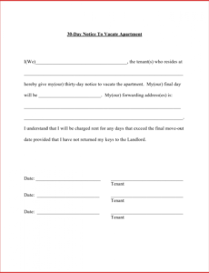 costume mail letter format apartment resume templates landlord 30 day written notice to landlord template pdf
