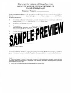 costume notice of annual general meeting  uk notice of annual meeting template pdf