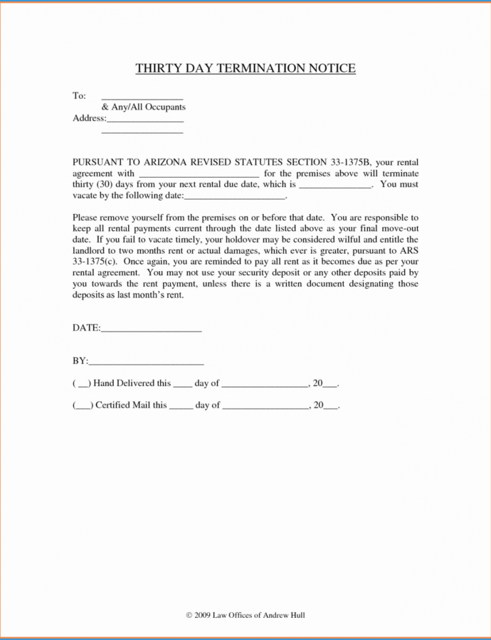 Editable 024 Late Rent Notice Template Day California Fearsome 30 Thirty Day Notice To Vacate Template PDF