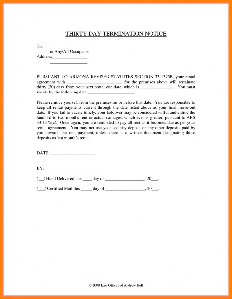 editable 035 day notice letter to landlord letters30 vacate example 30 day notice to vacate template to landlord pdf
