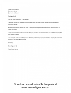 editable 3 highly professional two weeks notice letter templates notice to employer template word