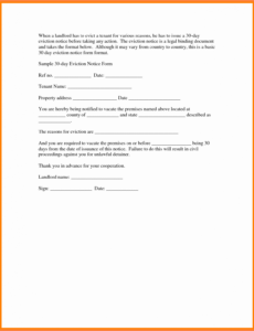 editable 30 day eviction notice template fresh 6 30 day eviction eviction notice template pdf sample