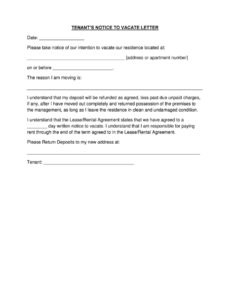 editable 60 day notice apartment template pisepablem 60 notice to vacate template