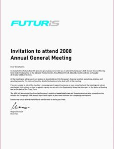 editable annual meeting invitation template • business template ideas notice of annual meeting template sample