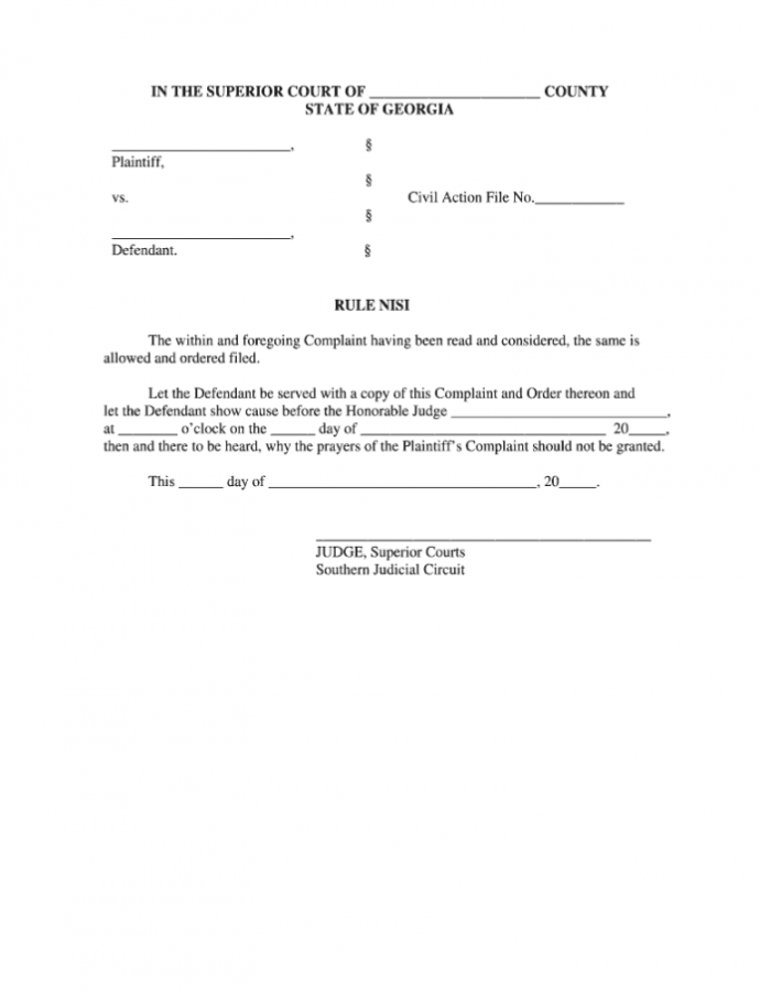 Editable Rule Nisi  Fill Online Printable Fillable Blank  Pdffiller Notice Of Hearing Template Word