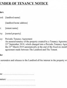 editable surrender of tenancy' notice for tenants notice to quit tenancy template example
