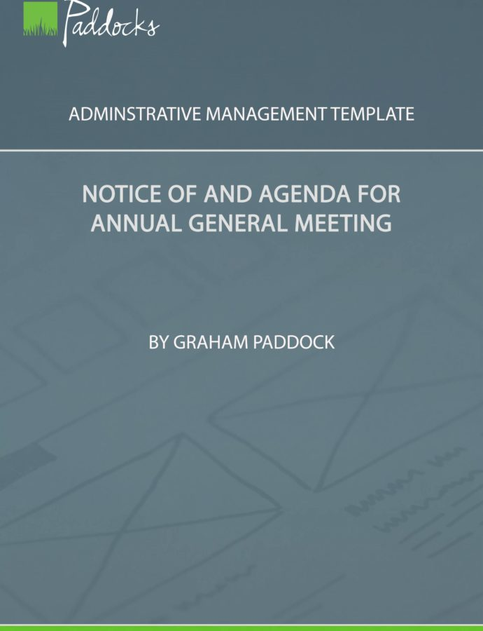 Editable Template  Notice Of And Agenda For Annual General Meeting Notice Of Annual Meeting Template Word