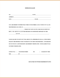 free 023 day notice template california ideas to vacate notary 30 notice to vacate template pdf
