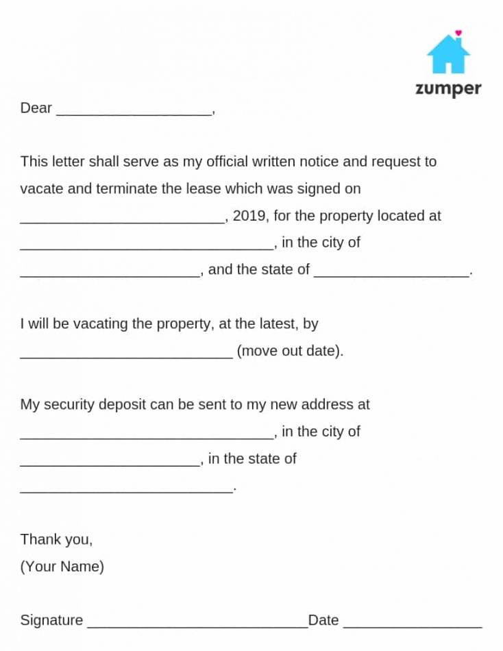 free how to give written notice to your landlordnotice to notice of moving out to landlord template