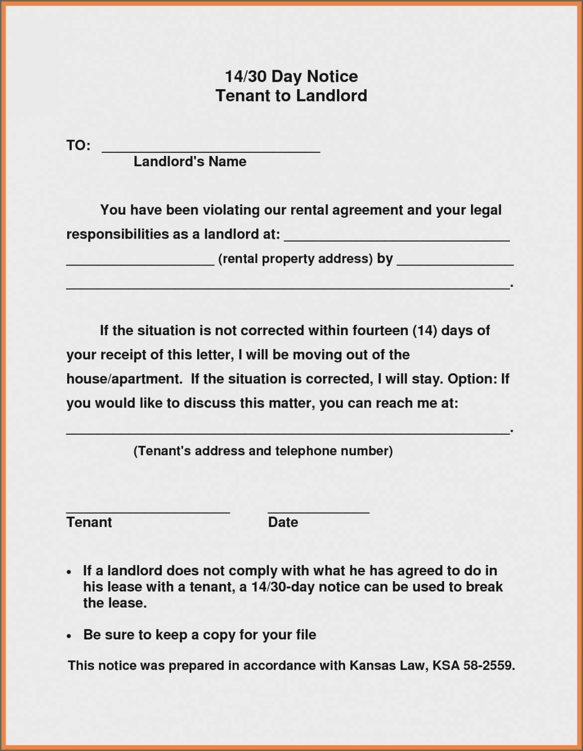 free landlord notice to vacate sample letter letter  novalaser 30 day notice to vacate template to landlord example