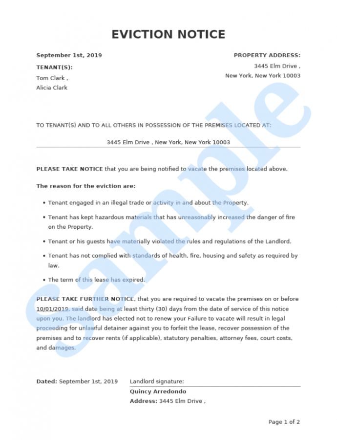 Printable Eviction Notice  Form Pros Rental Eviction Notice Template Word