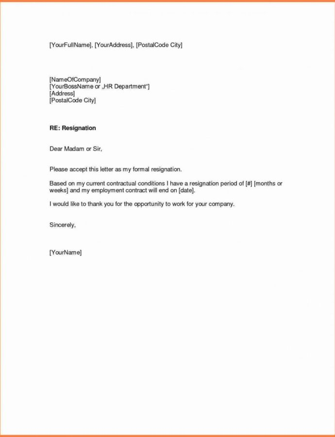 Printable Notice Of Resignation Letter Template 5  Resume Layout Notice Of Resignation Letter Template PDF
